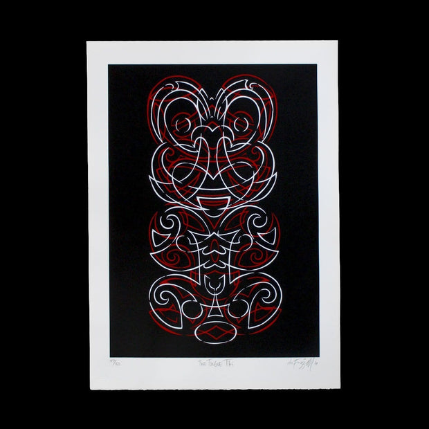 Two Tongue Tiki - Limited Edition Screenprint by Otis Frizzell