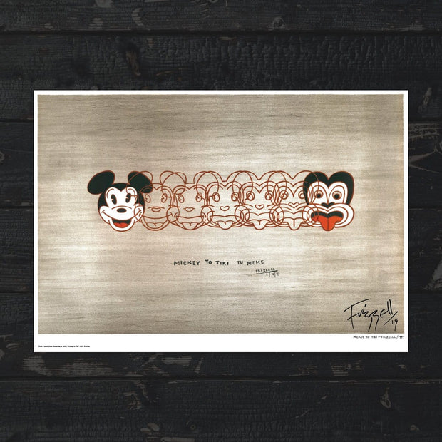 Signed Mickey to Tiki Print by Dick Frizzell
