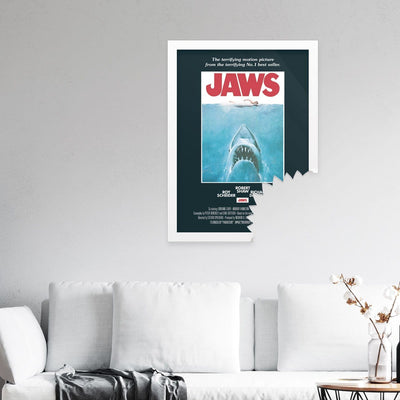 Jaws framed movie poster by Fishmob