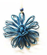 Load image into Gallery viewer, Twine Flower Ornament Blue