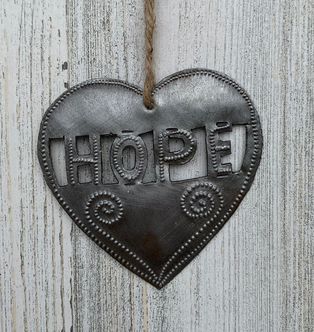 Heart Hope Ornament