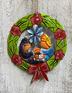 Wreath Nativity Ornament