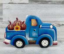 Load image into Gallery viewer, Fall Blue Pumpkin Truck