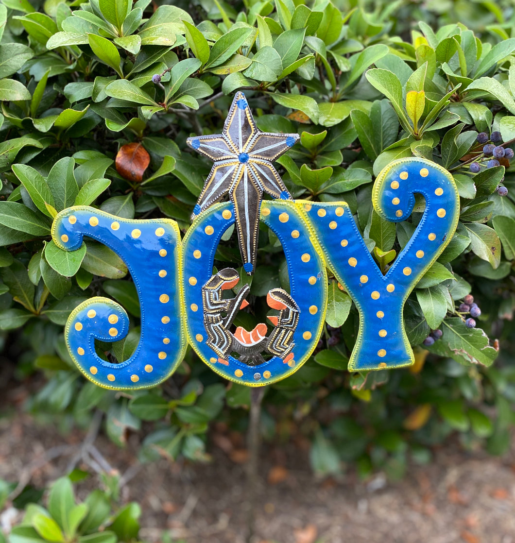 Yard / Garden Stake - Blue Joy Nativity