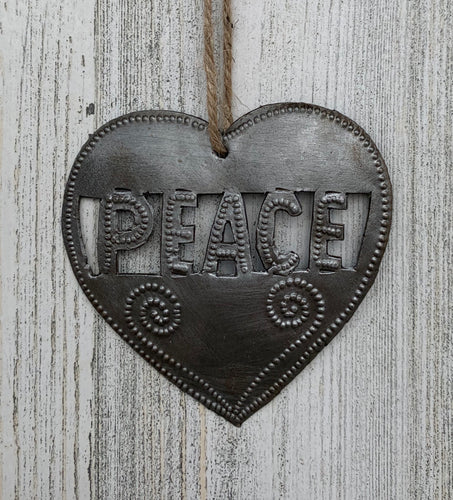 Heart Peace Ornament