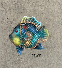 Load image into Gallery viewer, Teal Multi Colored Fish