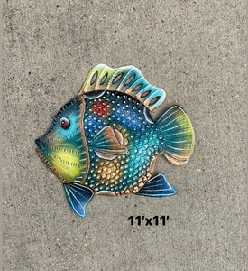 Teal Multi Colored Fish