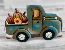 Load image into Gallery viewer, Fall Blue / Green Pumpkin Truck