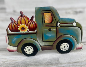 Fall Blue / Green Pumpkin Truck
