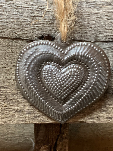Heart in a Heart Ornament