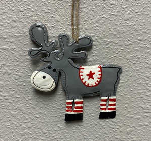 Moose Ornament Set