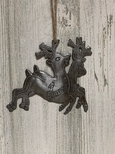 Double Deer Ornament