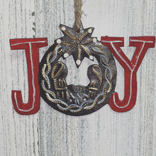 Load image into Gallery viewer, Joy Nativity Painted Ornament