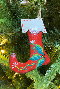 Stocking Red with White Trim Ornament