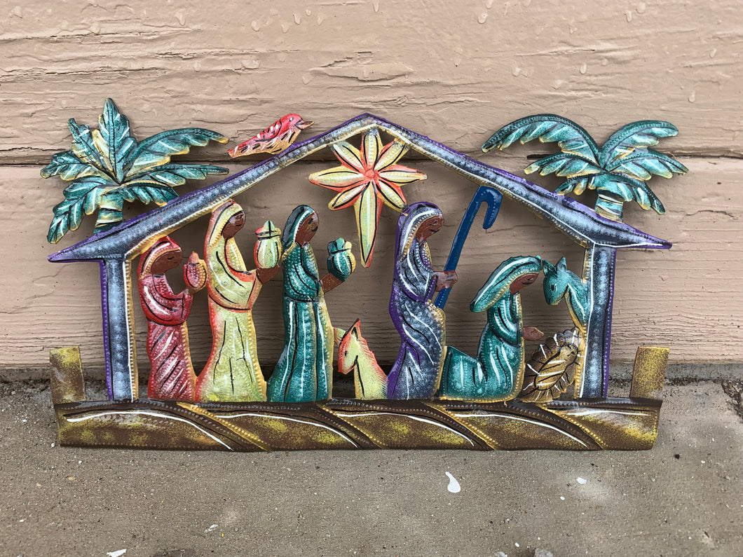 Nativity Painted