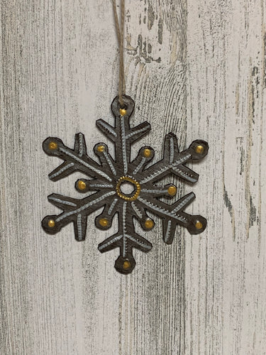 Snowflake Yellow Ornament