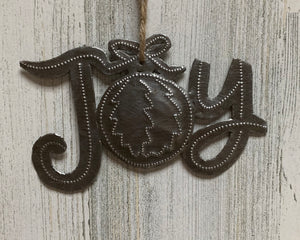 Joy Bow Present Ornament