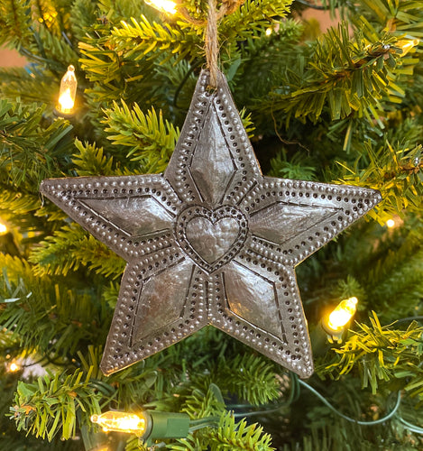 Star With Heart Ornament