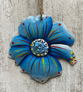 Blue Flower Ornament