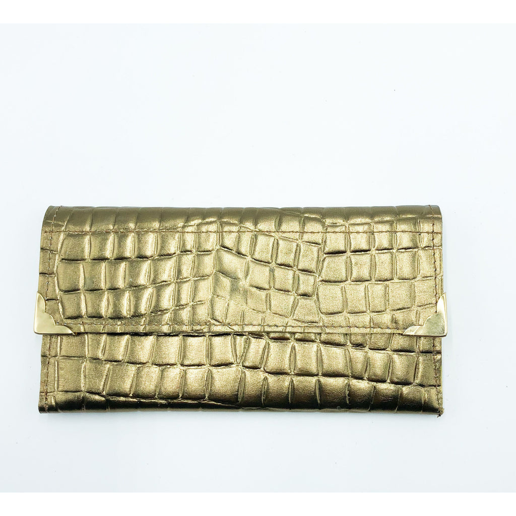 Gold Printed Leather Wallet