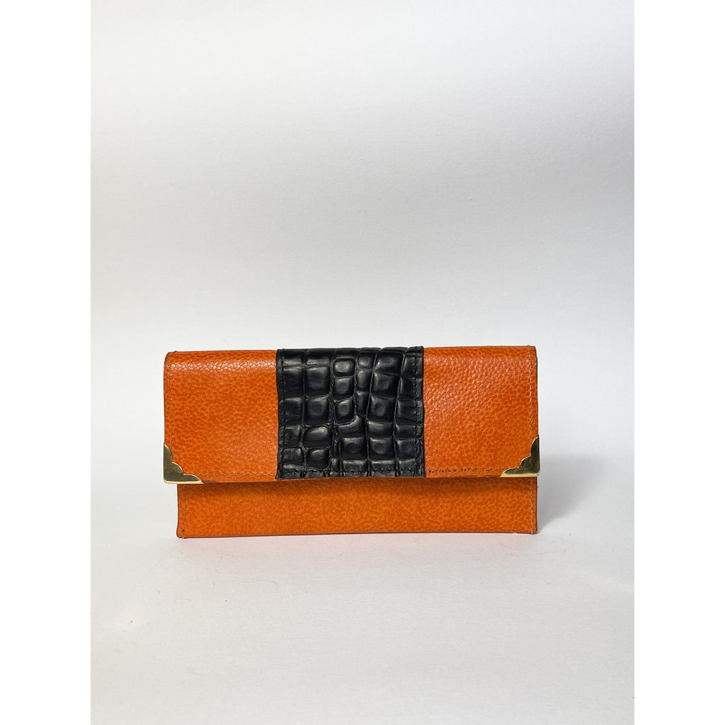 Orange And Brown Wallet - Large