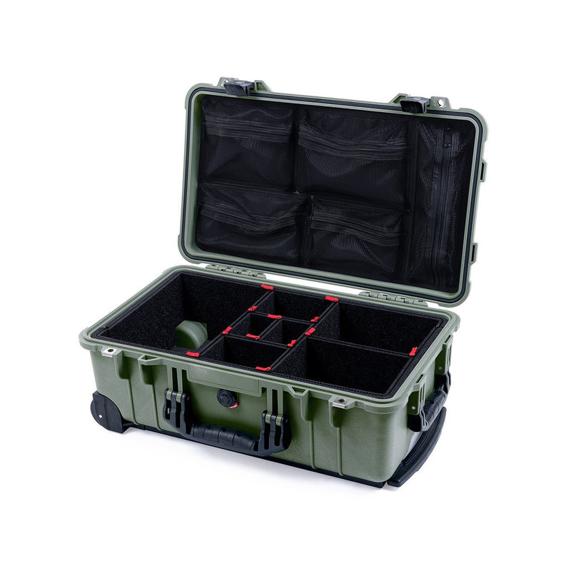 pelican 1510 green black trekpak 2 inside