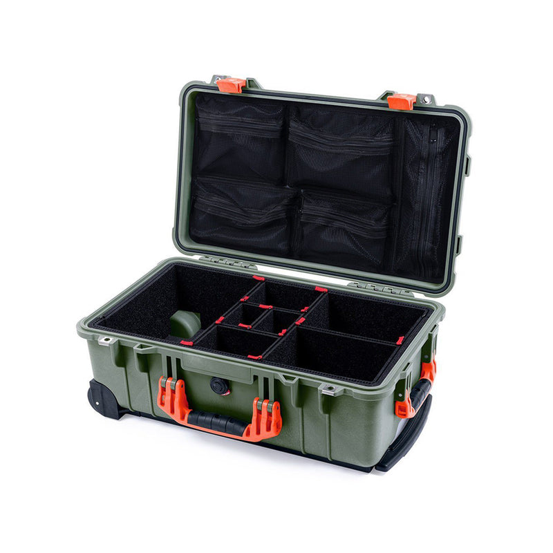 pelican 1510 green orange trekpak inside