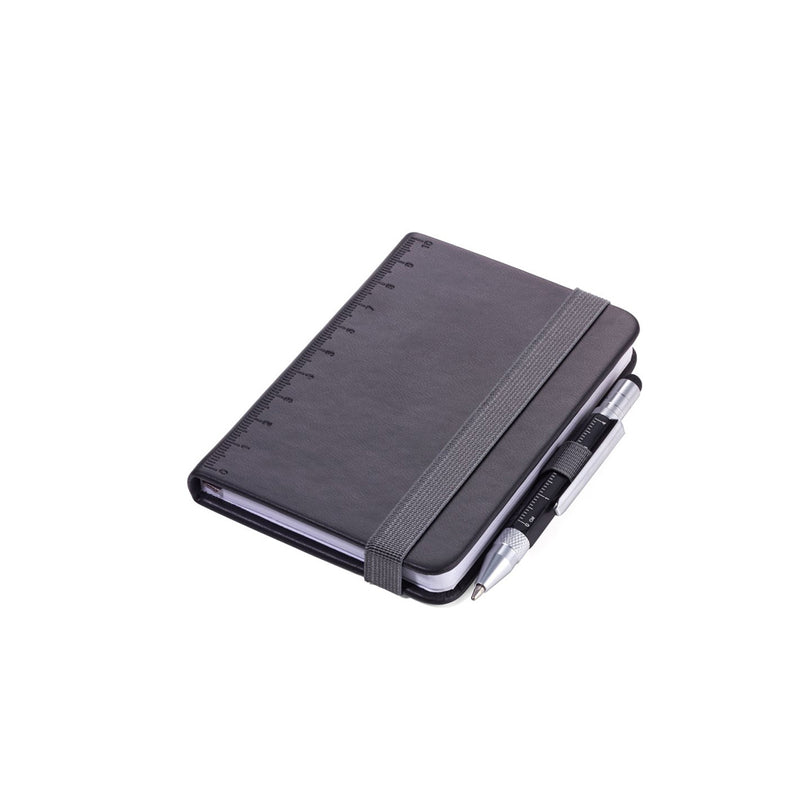 Black Troika A7 Notebook with Mini Construction Pen