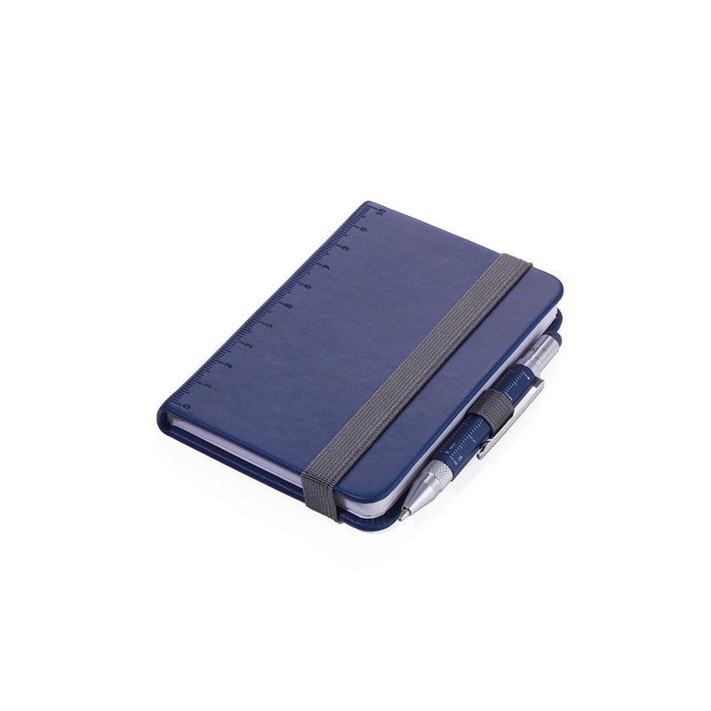 Blue Troika A7 Notebook with Mini Construction Pen
