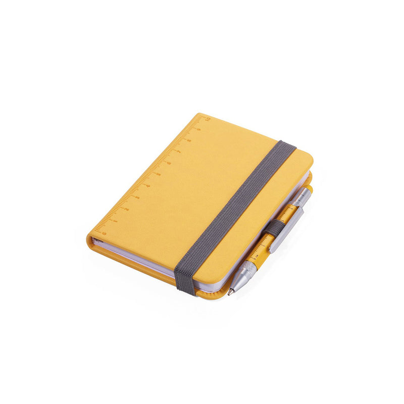 Yellow Troika A7 Notebook with Mini Construction Pen