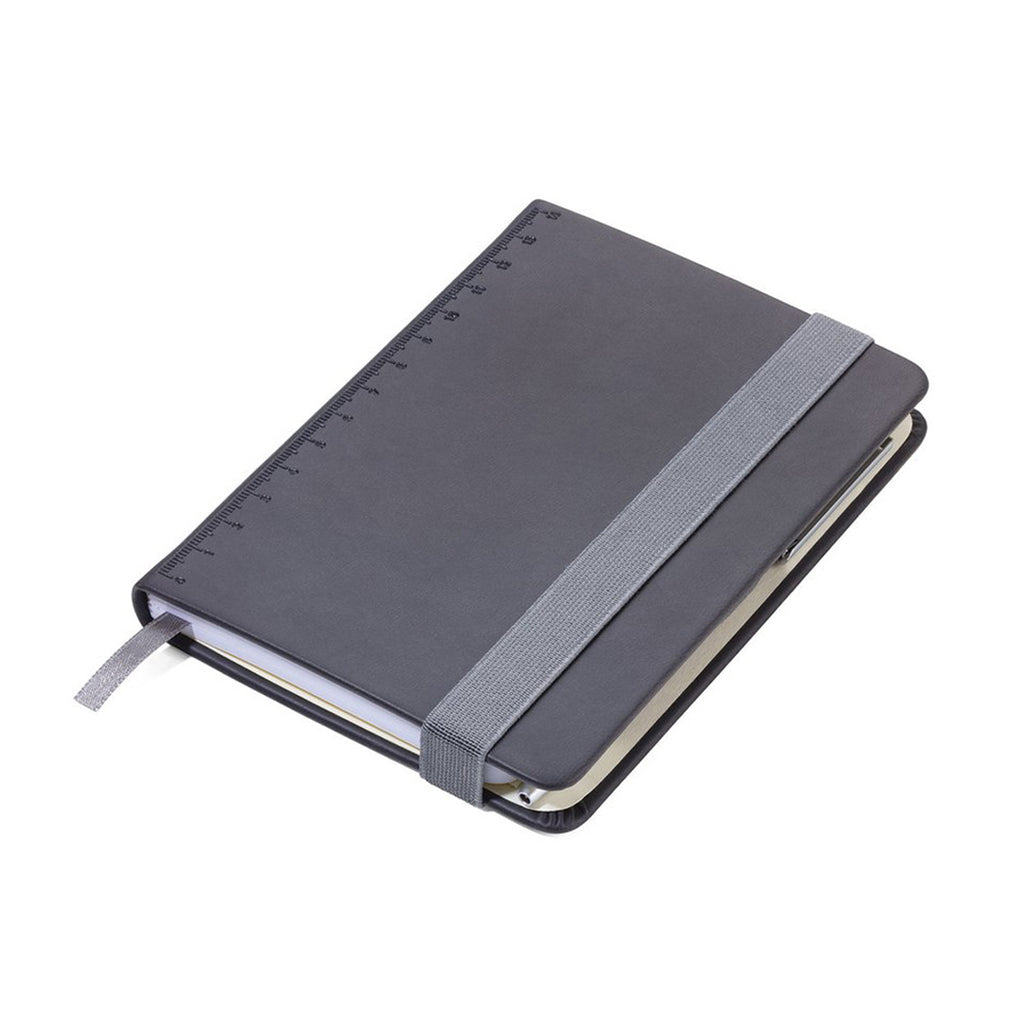 Black Troika A6 Notebook with Slim Construction Pen