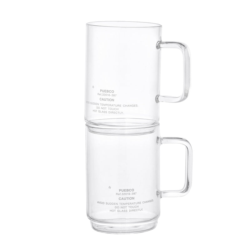 BOROSILICATE GLASS MUG - SHALLOW STACKING