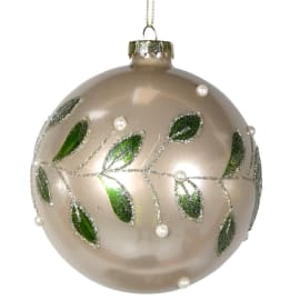 Gold and Mistletoe Bauble