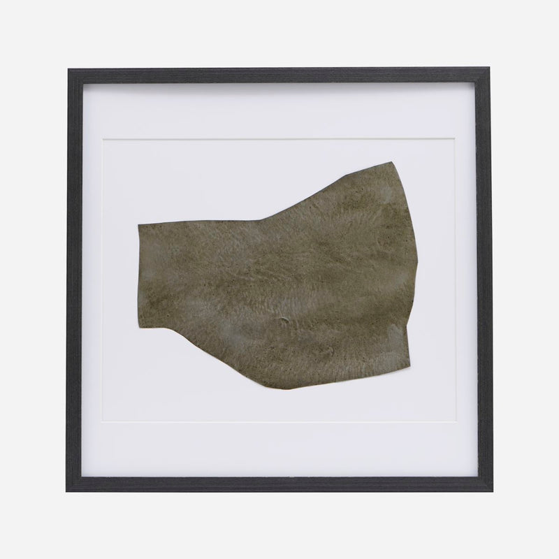 Metal Shape Wall Art in Black Frame