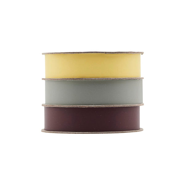 Ribbon Trio (Yellow, Green, Bordeaux)