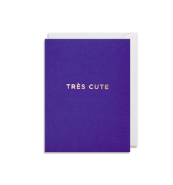 Tres Cute Mini Card