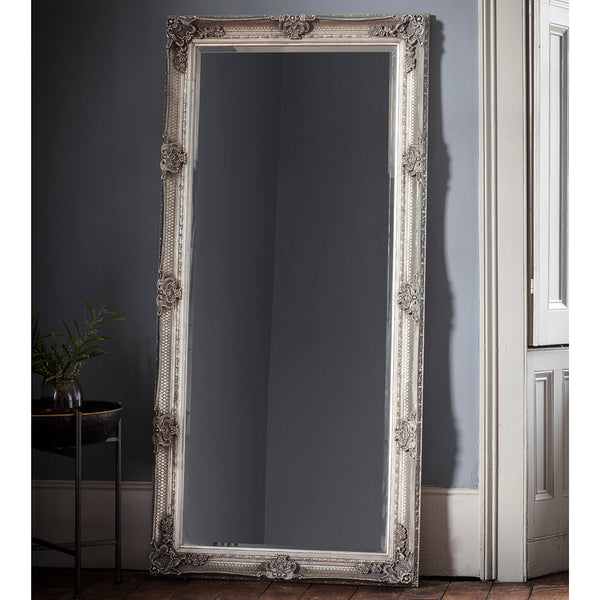 Silver Full Length Vintage Leaner Mirror