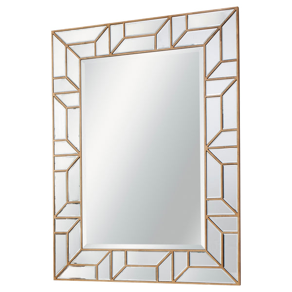 Gold Fragment Framed Mirror
