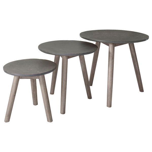 Scandi Nest of Tables Slate