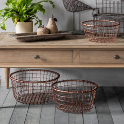 Metal Cage Baskets (Set of 3)