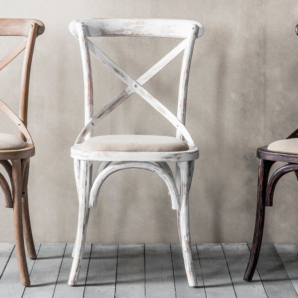 Rustic White Chair (Set of 2)