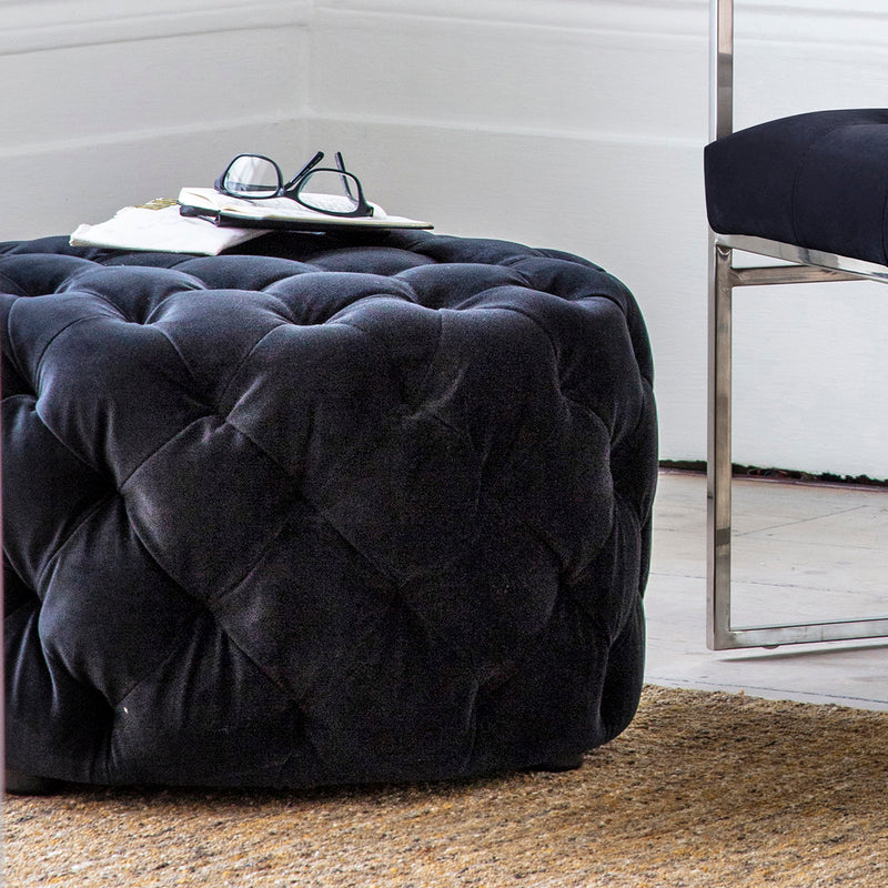 Chesterfield Jet Footstool