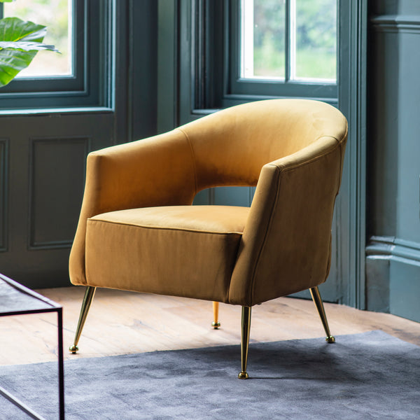 Boux Occasional Chair- Gold