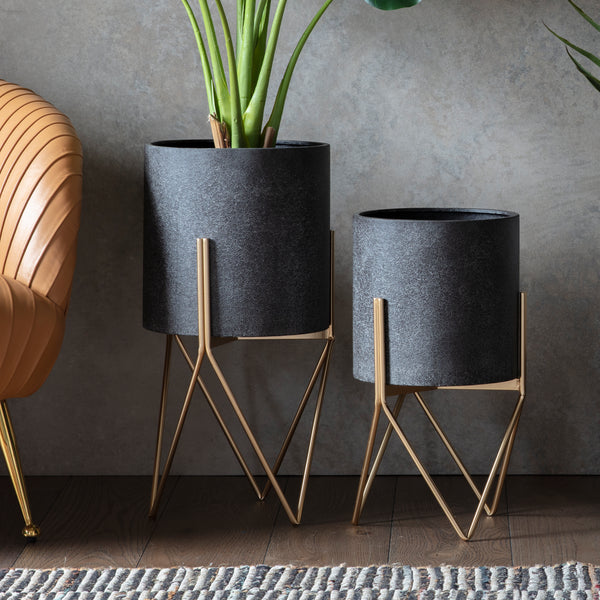Contemporary Charcoal Planter