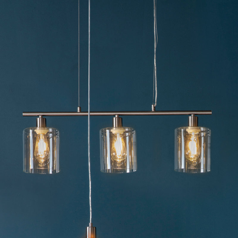 The Brushed Nickel Pendant Light