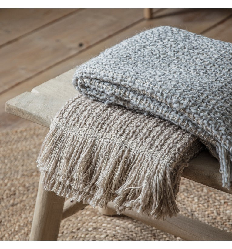 Tonal Woven Natural Throw