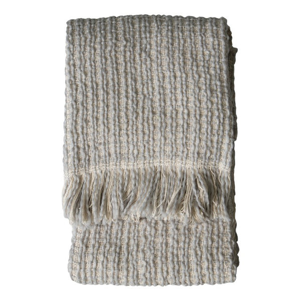 Tonal Woven Grey Throw