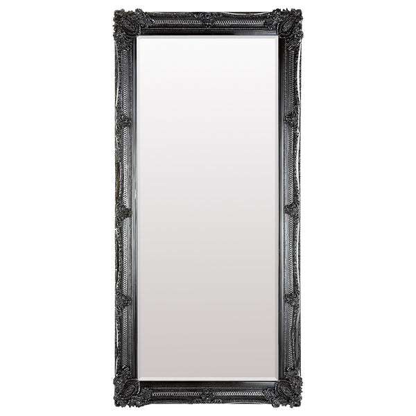 Black Full Length Vintage Leaner Mirror