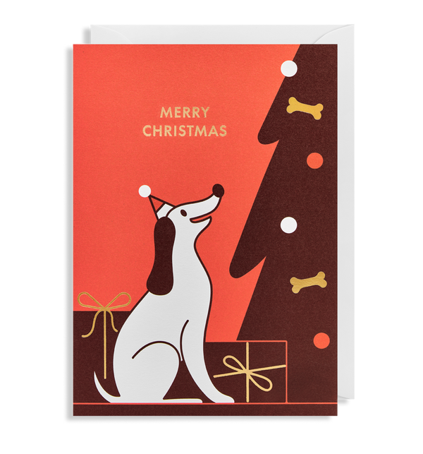 Dog Design Merry Christmas Card