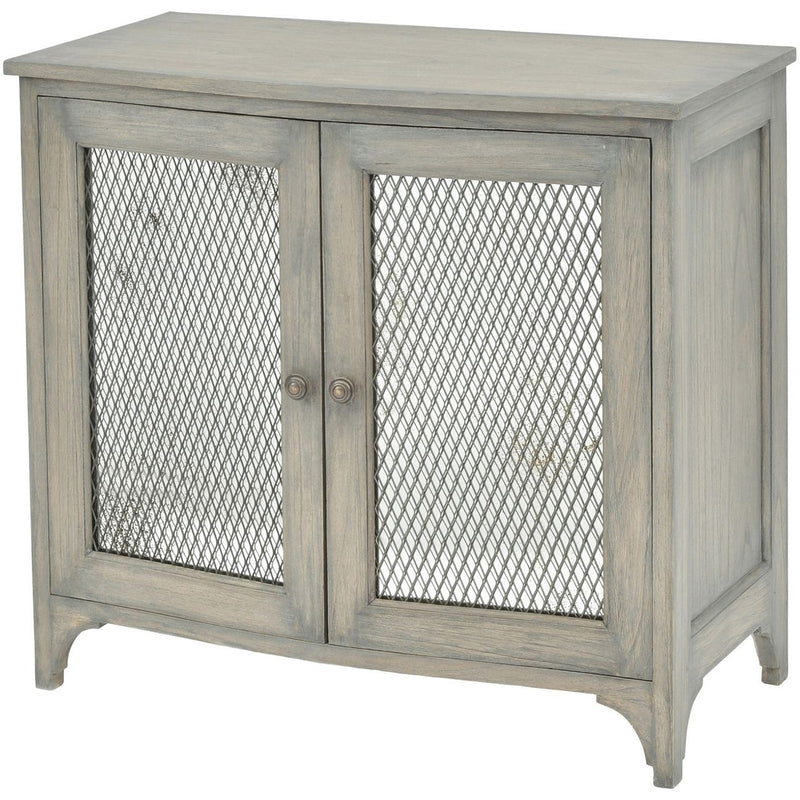 Small Wire Mesh Mirrored Cabinet